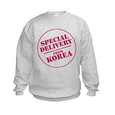 special delivery from Korea kids sweatshirt