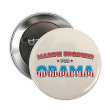 """Marine Engineer For Obama 2.25"""" Button"""