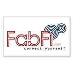 """Fabfi """"Connect Yourself"""" sticker 50-Pack"""