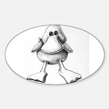 cute duck Oval Decal
