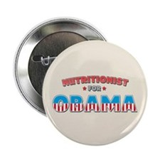 """Nutritionist For Obama 2.25"""" Button"""