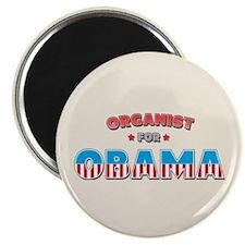 """Organist For Obama 2.25"""" Magnet (100 pack)"""
