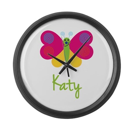 Katy The Butterfly Large Wall Clock