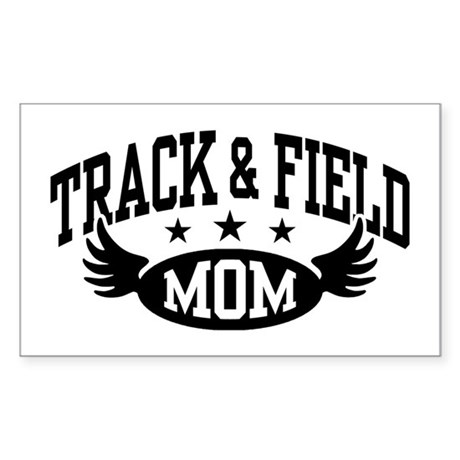 Track & Field Mom Sticker (Rectangle)