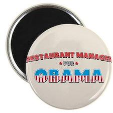 """Restaurant Manager For Obama 2.25"""" Magnet (10 pack"""