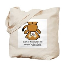 Happy Monkey - Full of Shit Tote Bag