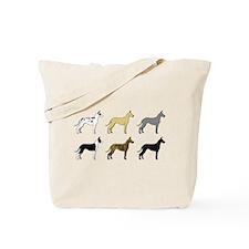Colorful Danes Tote Bag