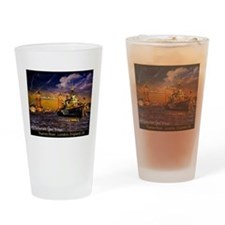 HMS Belfast and Tower bridg Drinking Glass