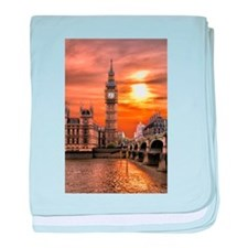 Houses of Parliament baby blanket