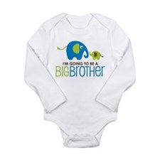 Elephant going to be a Big Brother Long Sleeve Inf