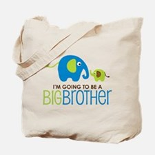 Elephant going to be a Big Brother Tote Bag