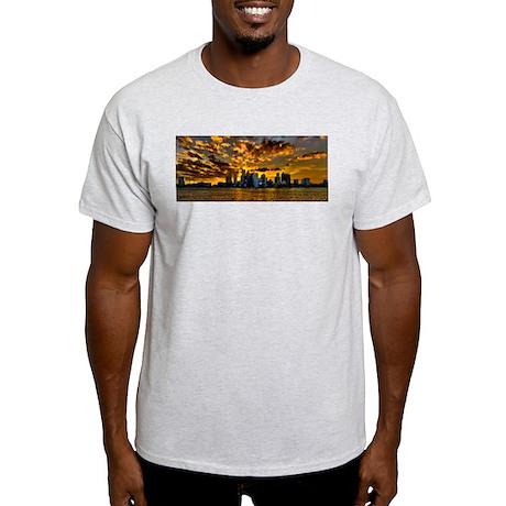Sunset over Boston Harbor Light T-Shirt