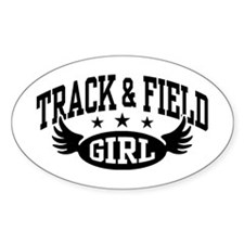 Track & Field Girl Decal