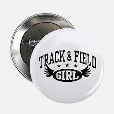 "Track & Field Girl 2.25"" Button"