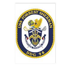 USS Forrest Sherman DDG Postcards (Package of 8)