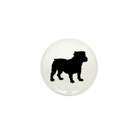 Bulldog Silhouette Mini Button (10 pack)