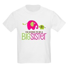 Elephant going to be a Big Sister T-Shirt