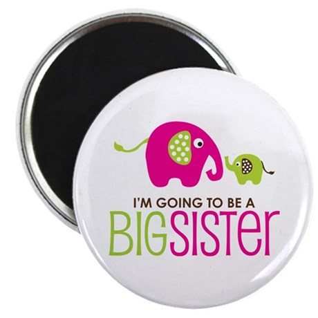 Elephant going to be a Big Sister Magnet