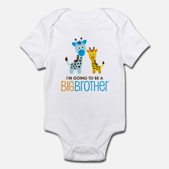 Giraffe going to be a Big Brother Infant Bodysuit