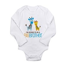 Giraffe going to be a Big Brother Long Sleeve Infa