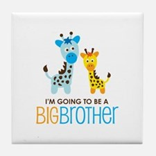 Giraffe going to be a Big Brother Tile Coaster