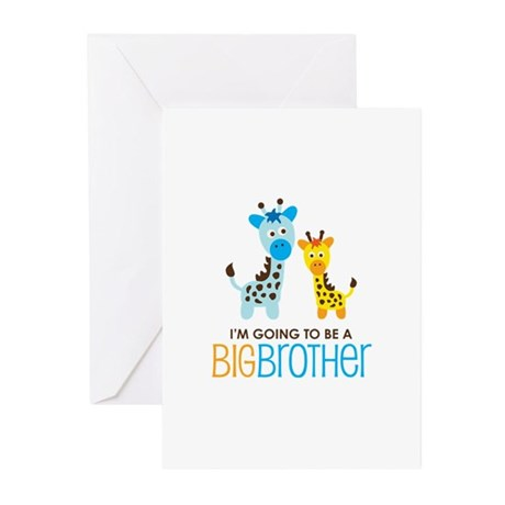 Giraffe going to be a Big Brother Greeting Cards (