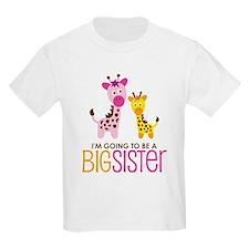 Giraffe going to be a Big Sister T-Shirt