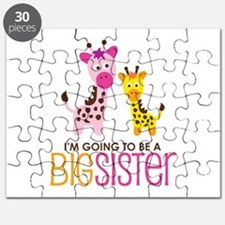 Giraffe going to be a Big Sister Puzzle