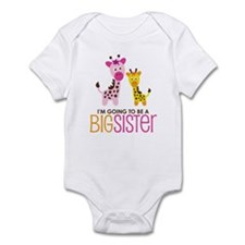 Giraffe going to be a Big Sister Infant Bodysuit