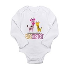 Giraffe going to be a Big Sister Onesie Romper Suit