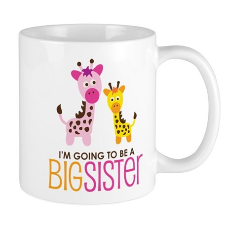 Giraffe going to be a Big Sister Mug