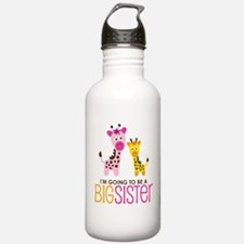 Giraffe going to be a Big Sister Water Bottle