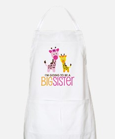 Giraffe going to be a Big Sister Apron