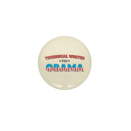 Technical Writer For Obama Mini Button (10 pack)