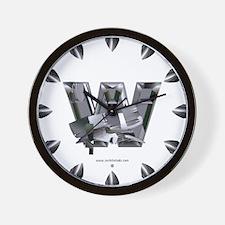 Heavy Metal W Wall Clock