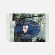 St Christopher's Episcopal Rectangle Magnet