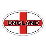 Oval England Oval Sticker