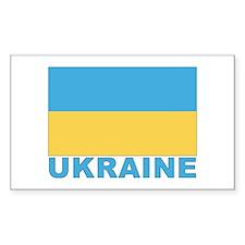 World Flag Ukraine Rectangle Decal
