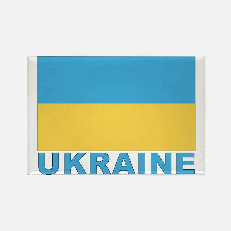 World Flag Ukraine Rectangle Magnet
