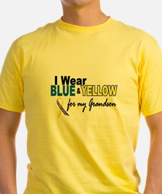 I Wear Blue & Yellow....2 (Grandson) T-Shirt
