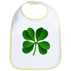St Patricks Day 4 Leaf Clover Bib
