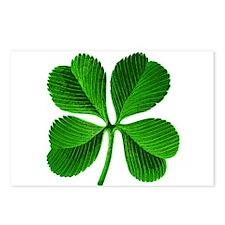 St Patricks Day 4 Leaf Clover Postcards (Package o