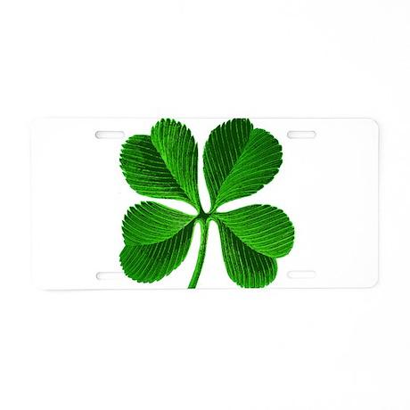 St Patricks Day 4 Leaf Clover Aluminum License Pla