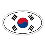 South Korean flag Oval Sticker
