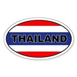 Thai (Thailand) Flag Oval Sticker