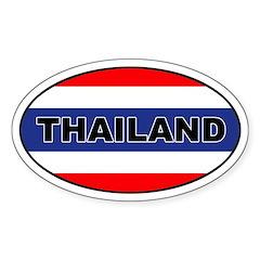 Thai (Thailand) Flag Oval Decal