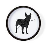Bull Terrier Silhouette Wall Clock