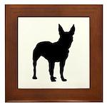Bull Terrier Silhouette Framed Tile