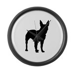 Bull Terrier Silhouette Large Wall Clock