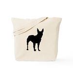Bull Terrier Silhouette Tote Bag
